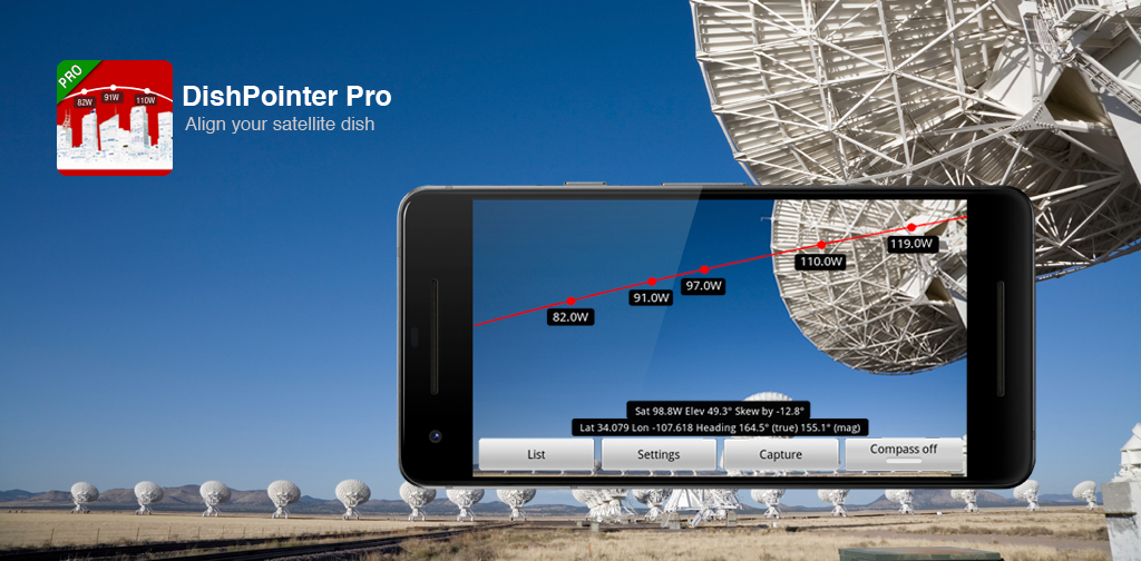 Angle Finder App >> Dishpointer Align Your Satellite Dish